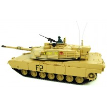 1/16 M1A2 Abrams RC Tank With Smoke, Sound and BB Gun - 2.4GHz Version