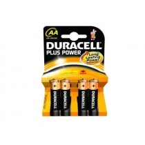Pack de 4 piles Duracell Plus Power MN1500/LR6 Mignon AA
