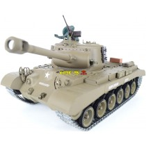 Léopard des neiges Pershing M26 1/16 RC Tank - Version Pro de tir